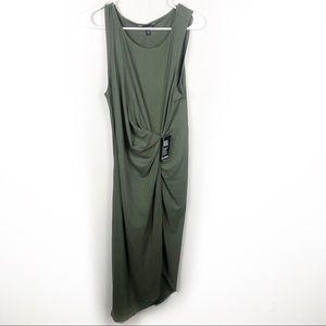 Green Asymmetric Dress Women's Size Large